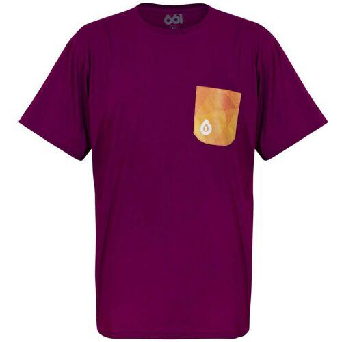 SixSixOne Geo Pocket Shirt - L Eggplant   T-Shirts