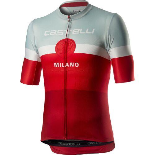 Castelli Milano Radtrikot (kurzarm) - XS Rot   Trikots