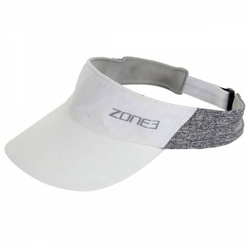 Zone3 Race Stirnband mit Schirm - One Size White/Charcoal Marl/