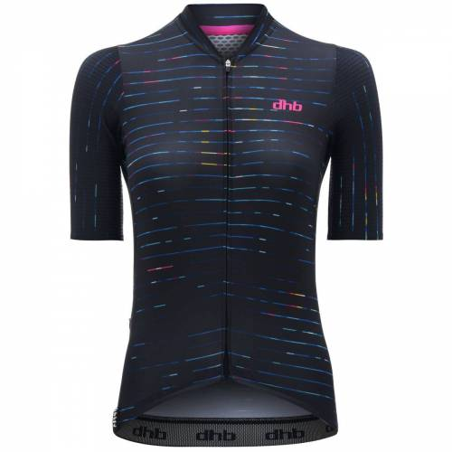 dhb Aeron Speed Focus Radtrikot Frauen (kurzarm) - UK 6 Schwarz