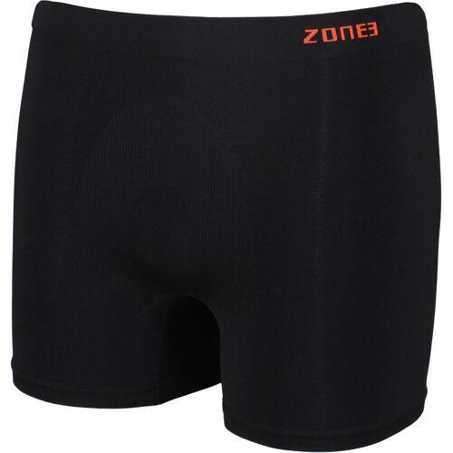 Zone3 Support Boxer Unterhose (nahtlos) - Large Schwarz / Orange
