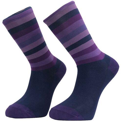 Primal Purple Stripe Radsocken - L/XL Lila   Socken