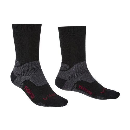 Bridgedale Hike Midweight Merino Socken - UK6-UK8.5 Schwarz   Socken