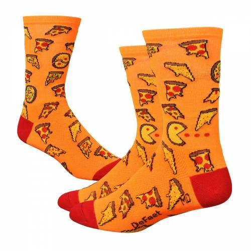 DeFeet Aireator Pizza Party Socken (ca. 15 cm) - L Orange/Red   Socken
