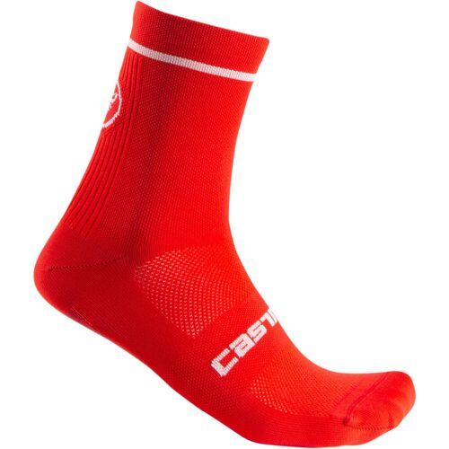 Castelli Entrata 9 Radsocken - L/X Rot   Socken