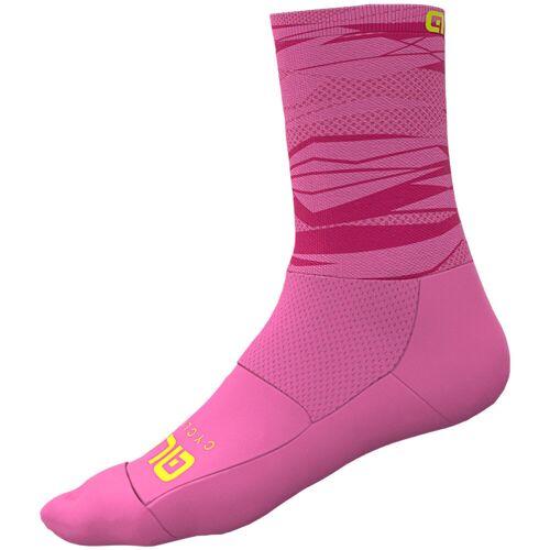 Alé Rock Radsocken - 44-47 Fluo Pink   Socken
