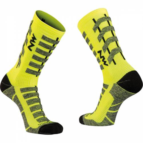 Northwave Husky Ceramic Tech 2 Socken (hoch) - XS Gelb   Socken