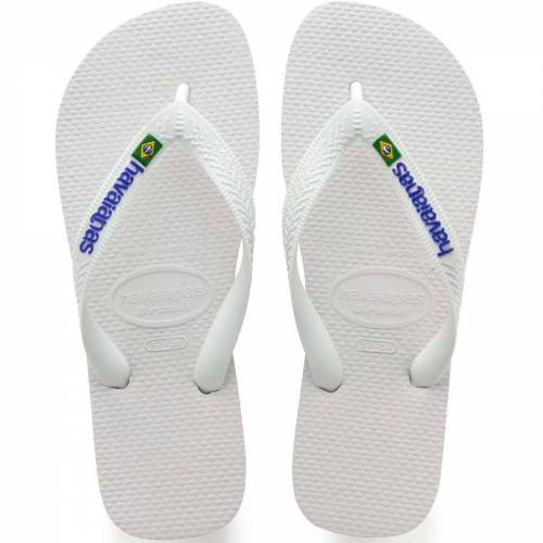 Havaianas Brazil Logo Sandalen - 41/42 Weiß   Flipflops