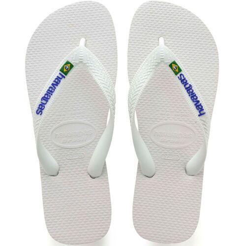 Havaianas Brazil Logo Sandalen - 45/46 Weiß   Flipflops