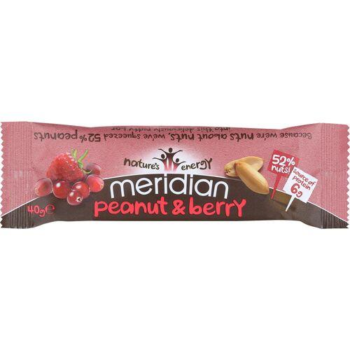 Meridian Erdnussriegel (18 x 40 g) - 18 x 40g 11-20 Peanut & Berry