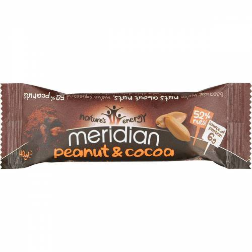 Meridian Erdnussriegel (18 x 40 g) - 18 x 40g 11-20 Peanut and Cocoa