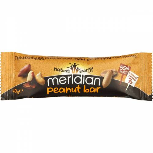 Meridian Erdnussriegel (18 x 40 g) - 18 x 40g 11-20 Peanut   Riegel