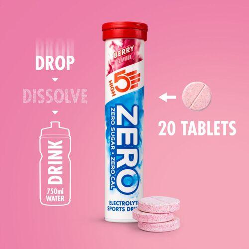 High5 ZERO Hydration Brausetabletten (20 Stück) - 20 Tabs Berry