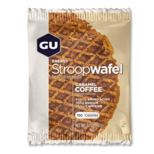 GU Energy Stroopwaffel (16 Stück) - 16 x 32g Caramel Coffee   Snacks