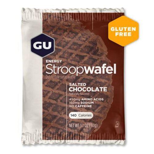 GU Energy Stroopwaffel (16 Stück) - 16 x 32g Salted Chocolate   Snacks