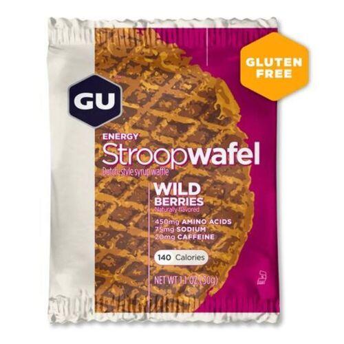 GU Energy Stroopwaffel (16 Stück) - 16 x 32g Wild Berry   Snacks