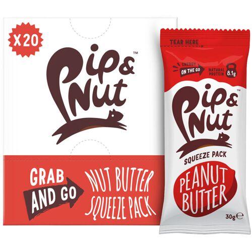 Pip & Nut Erdnussbutter (20 x 30 g) - 20x30g Peanut Butter