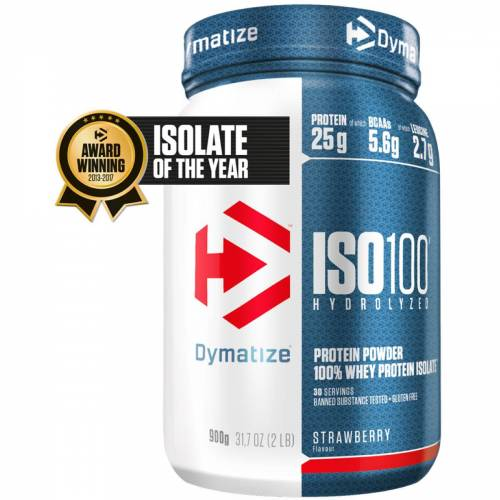 Dymatize Iso 100 Proteinpulver (900 g) - 801-900g Strawberry