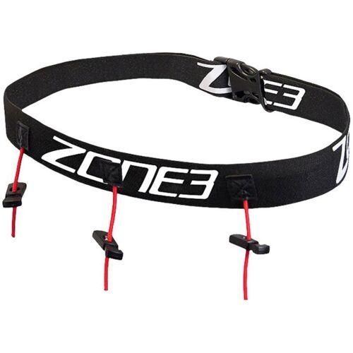 Zone3 Triathlon Startnummerngürtel Kinder - One Size Black/White/Red