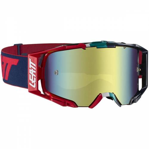 Leatt Velocity 6.5 Iriz Brille - One Size Blue/Red   Radsportbrillen