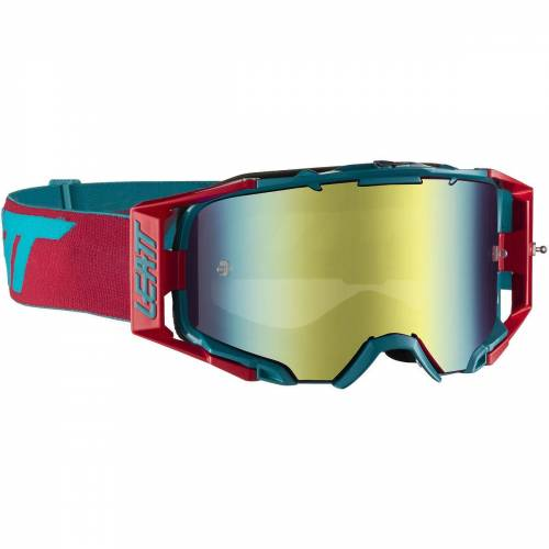 Leatt Velocity 6.5 Iriz Brille - One Size Red/Blue   Radsportbrillen