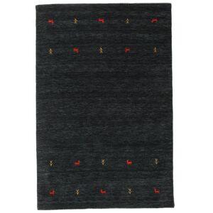 RugVista Gabbeh Loom Two Lines Teppich  160X230 Einfarbig Wolle Schwartz