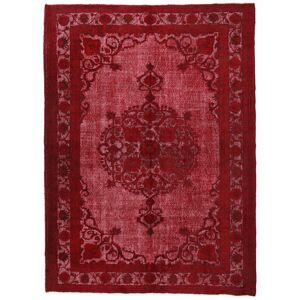Handgeknüpft. Ursprung: Turkey 226X309 Colored Vintage Relief Teppich  Echter Moderner Handgeknüpfter Dunkelrot/Rot (Wolle, Türkei)