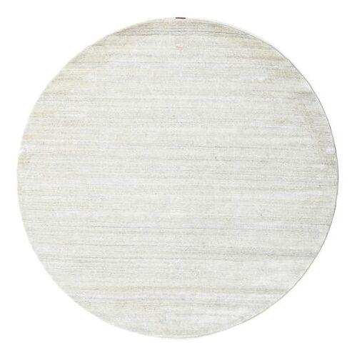 RugVista Einfarbig Teppich  Bamboo Silk Loom Ø 200 Rund Beige