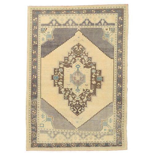 Handgeknüpft. Ursprung: Turkey Taspinar Teppich  132X190 Beige/Hellgrau (Wolle, Türkei)