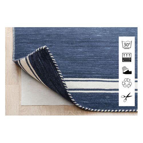 RugVista 130X190 Anti Slip, Non-Woven Teppich  Blau/Hellgrau