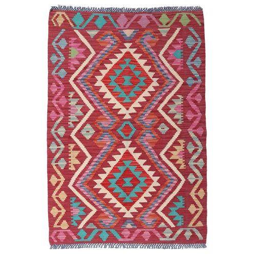Handgeknüpft. Ursprung: Afghanistan Kelim Afghan Old Style Teppich  98X145 Rot (Wolle, Afghanistan)