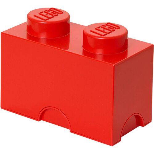 Lego Aufbewahrungsbox 2 Noppen - Rot
