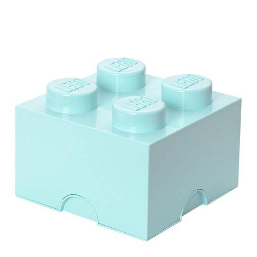 Lego Aufbewahrungsbox 4er - Aqua Blau