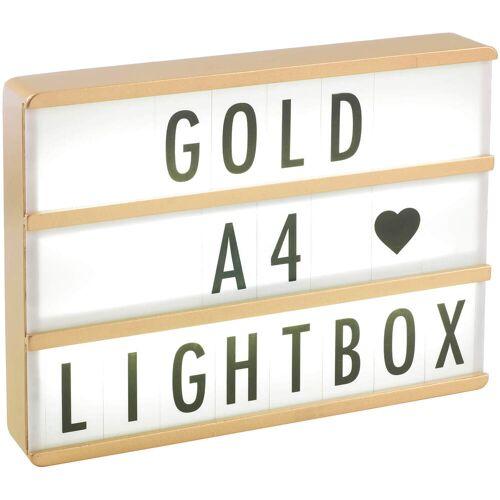 Gingersnap A4 Premium Holzerne Kino-Leuchtkasten – Gold