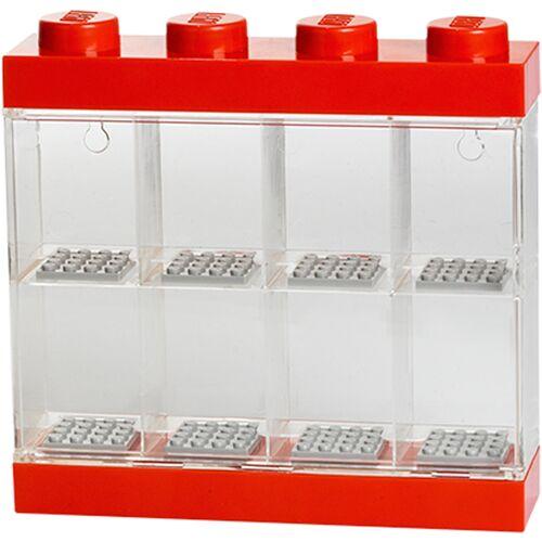 Lego Display Case für 8 Minifiguren - Rot