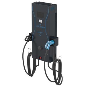 IES Synergy Elektroauto Ladestation DC-Wallbox (3 Anschlüsse) (24kW, CCS, CHAdeMO und AC Typ 2, SIM, RFID)