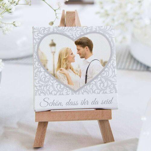 Personello Tischdeko – Hochzeit– Mini – Leinwand