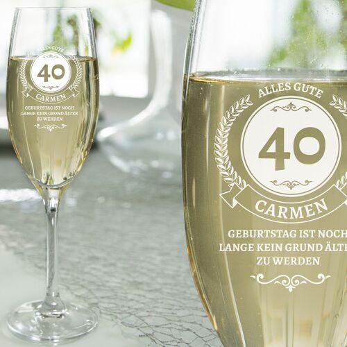 Personello Geschenke zum 40. Geburtstag für Frauen – Sektglas