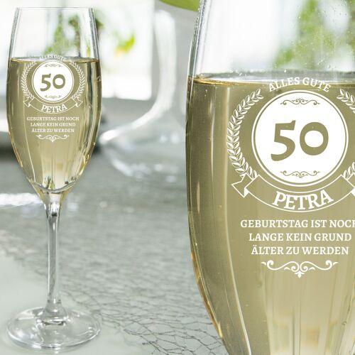 Personello Geschenke zum 50. Geburtstag für Frauen – Sektglas