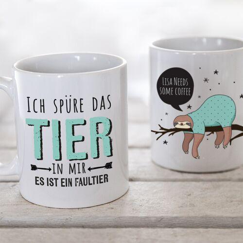 Personello Faultier Geschenke – Faultier Tasse