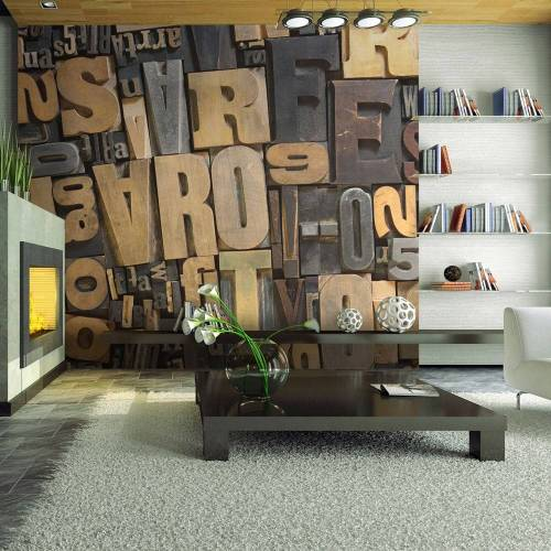 Artgeist Fototapete - Holzbuchstaben