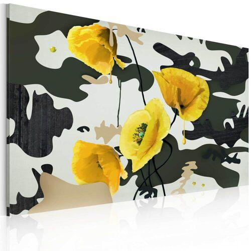Artgeist Wandbild - Gemalt mit Mohnblumen