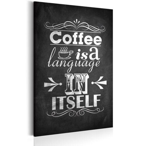 Artgeist Wandbild - Mit Liebe zum Kaffee