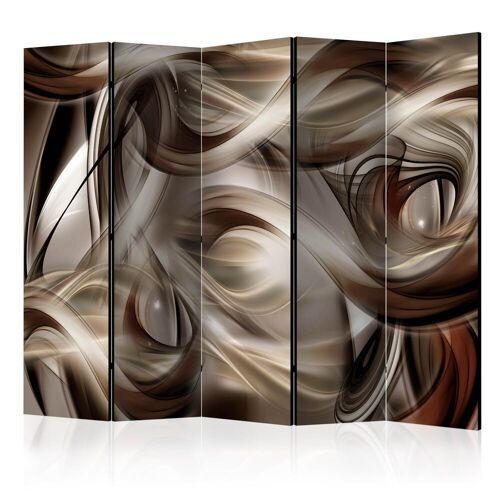 Artgeist 5-teiliges Paravent - Brown Revelry II [Room Dividers]