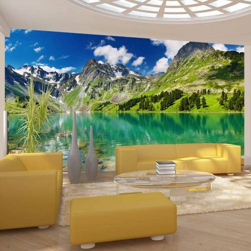 Artgeist Fototapete - Kristallklarer Bergsee