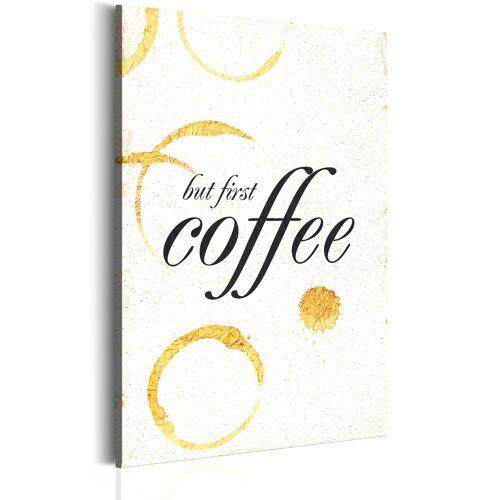 Artgeist Wandbild - Mein Haus: Kaffee