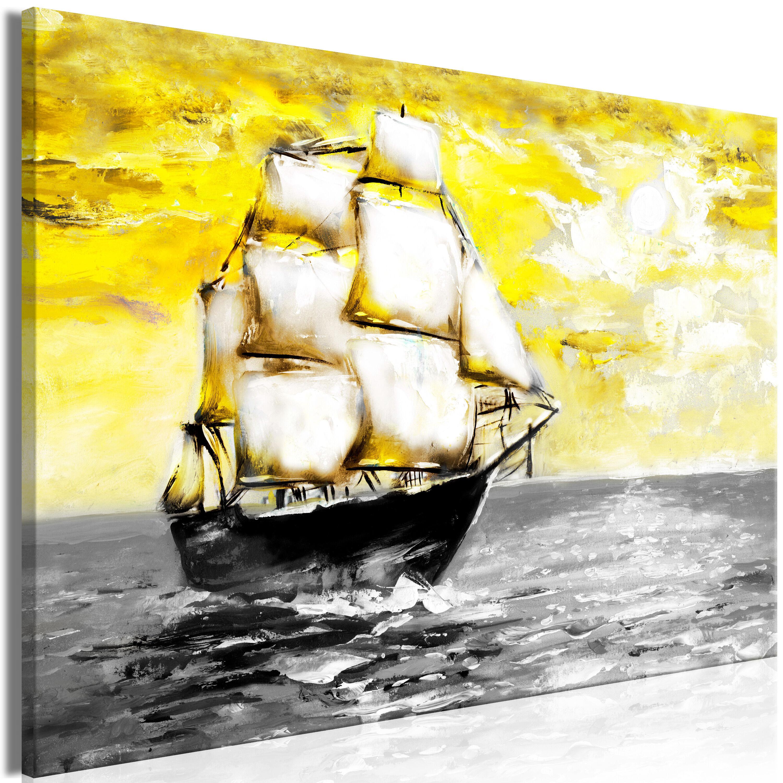 Artgeist Wandbild - Spring Cruise (1 Part) Wide Yellow