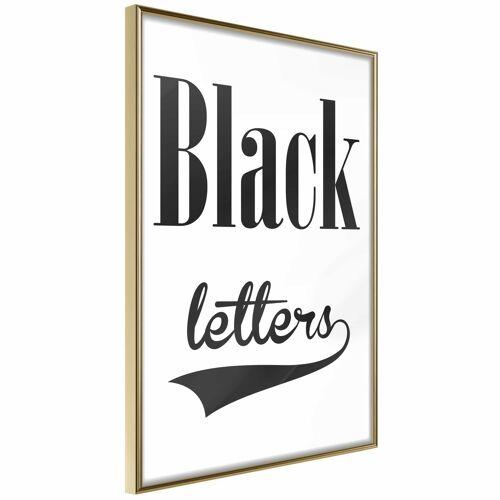 Artgeist Poster - Black Lettering