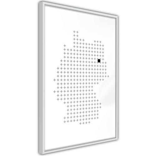 Artgeist Poster - Pixel Map of Germany