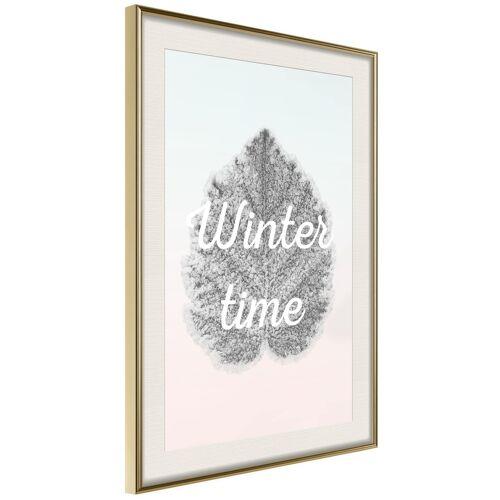 Artgeist Poster - Winter Leaf